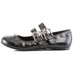 Skull Buckle Mary Jane Flat Gothic Shoes Mild to Wild Womens Shoes  Shoes for Women from Flats to Extreme High Heels & Platforms