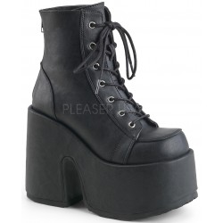 Black Matte Chunky Platform Ankle Boots Mild to Wild Womens Shoes  Shoes for Women from Flats to Extreme High Heels & Platforms
