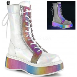 Emily Rainbow Platform White Mid-Calf Boot Mild to Wild Womens Shoes  Shoes for Women from Flats to Extreme High Heels & Platforms