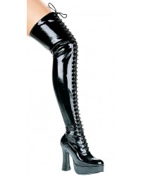 Olivia Lace Up Thigh High Platform Boots