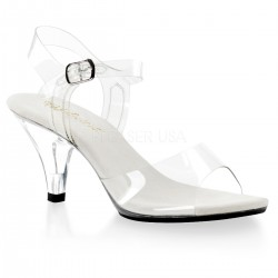 Belle Clear Peep Toe Sandal Mild to Wild Womens Shoes  Shoes for Women from Flats to Extreme High Heels & Platforms