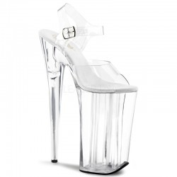 Beyond Extreme Clear 10 Inch High Sandal Mild to Wild Womens Shoes  Shoes for Women from Flats to Extreme High Heels & Platforms