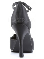 Black Satin T-Strap Cutie Pie Pump at Mild to Wild Womens Shoes,  Shoes for Women from Flats to Extreme High Heels & Platforms