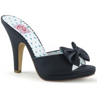 Siren Black Mule with Bow