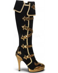 Arena Military Inspired Knee Boots for Women