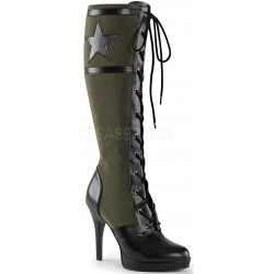 Arena Army Green Knee Boots for Women Mild to Wild Womens Shoes  Shoes for Women from Flats to Extreme High Heels & Platforms