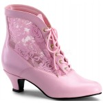 Victorian Dame Baby Pink Ankle Boot