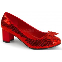 Dorothy Red Sequin 2 Inch Heel Pump Mild to Wild Womens Shoes  Shoes for Women from Flats to Extreme High Heels & Platforms