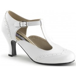 Flapper White T-Strap Pump Mild to Wild Womens Shoes  Shoes for Women from Flats to Extreme High Heels & Platforms