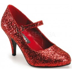 Glinda Red Glittered Mary Jane Pump Mild to Wild Womens Shoes  Shoes for Women from Flats to Extreme High Heels & Platforms