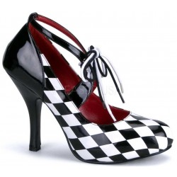 Harlequinn Black and White Checkered Pump Mild to Wild Womens Shoes  Shoes for Women from Flats to Extreme High Heels & Platforms
