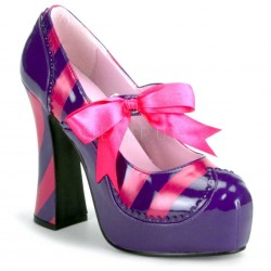 Kitty Purple and Hot Pink Striped Pump Mild to Wild Womens Shoes  Shoes for Women from Flats to Extreme High Heels & Platforms