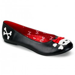 Skull and Crossbone Black Ballet Flat Mild to Wild Womens Shoes  Shoes for Women from Flats to Extreme High Heels & Platforms
