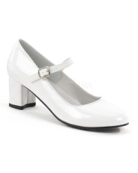 Schoolgirl White Mary Jane Pump
