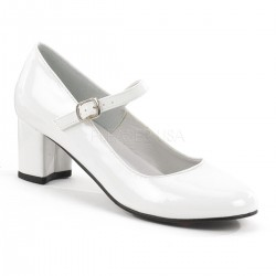 Schoolgirl White Mary Jane Pump Mild to Wild Womens Shoes  Shoes for Women from Flats to Extreme High Heels & Platforms