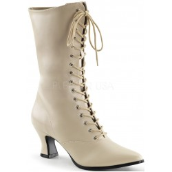 Cream Victorian Ankle Boot Mild to Wild Womens Shoes  Shoes for Women from Flats to Extreme High Heels & Platforms