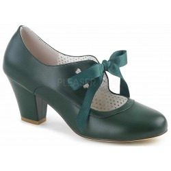 Wiggle Vintage Style Mary Jane Shoe in Forest Green Mild to Wild Womens Shoes  Shoes for Women from Flats to Extreme High Heels & Platforms