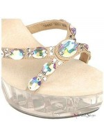 Juno Crystal Cross Vamp Designer Sandal at Mild to Wild Womens Shoes,  Shoes for Women from Flats to Extreme High Heels & Platforms