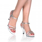 Belle Rhinestone Silver Sandal - Size 11 at Mild to Wild Shoes,  Shoes for Women from Flats to Extreme High Heels & Platforms