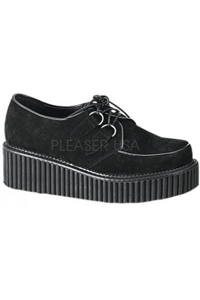 Black Suede Womens Creeper at Mild to Wild Womens Shoes,  Shoes for Women from Flats to Extreme High Heels & Platforms