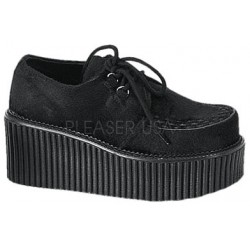 Black Suede Woven Womens Creeper Mild to Wild Womens Shoes  Shoes for Women from Flats to Extreme High Heels & Platforms