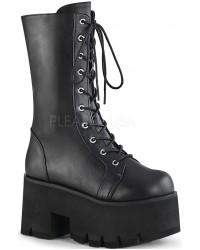 Ashes Womens Mid-Calf Platform Combat Boot