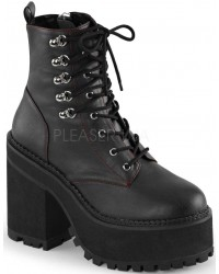 Assault Block Heel Womens Combat Boot