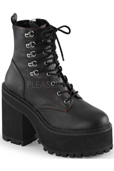Assault Block Heel Womens Combat Boot at Mild to Wild Womens Shoes,  Shoes for Women from Flats to Extreme High Heels & Platforms