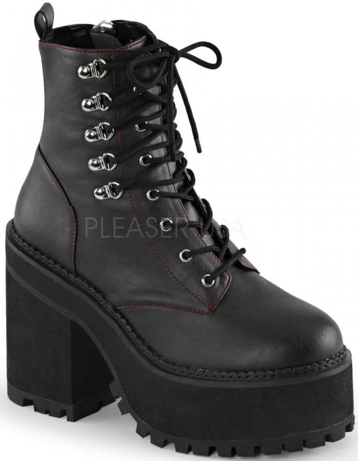 402f3e990e4 Assault Block Heel Womens Combat Boot
