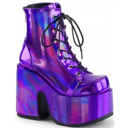 Purple Hologram Chunky Platform Boots Mild to Wild Womens Shoes  Shoes for Women from Flats to Extreme High Heels & Platforms