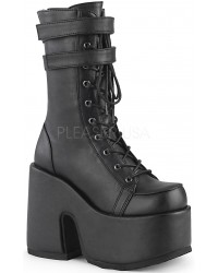 Black Matte Platform Chunky Heel Boots