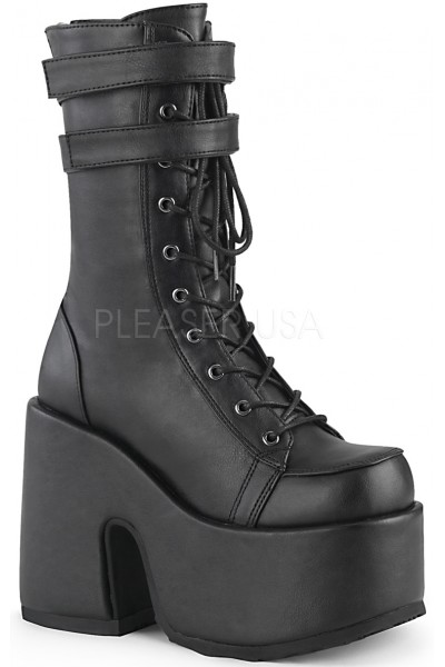Black Matte Platform Chunky Heel Boots at Mild to Wild Womens Shoes,  Shoes for Women from Flats to Extreme High Heels & Platforms
