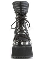 Clash Corseted Womens Motorcycle Boots at Mild to Wild Shoes,  Shoes for Women from Flats to Extreme High Heels & Platforms