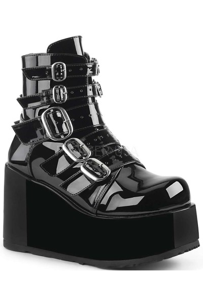 Buckled Concord Black Patent Platform Ankle Boot at Mild to Wild Womens Shoes,  Shoes for Women from Flats to Extreme High Heels & Platforms