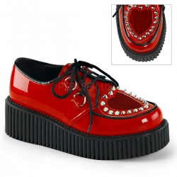 Heart Vamp Studded Womens Creeper in Red Mild to Wild Womens Shoes  Shoes for Women from Flats to Extreme High Heels & Platforms