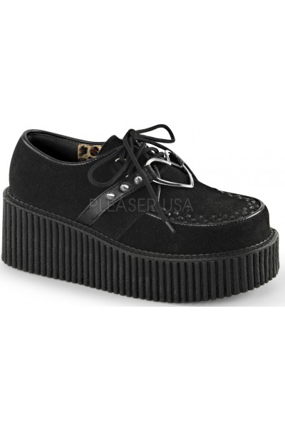 Heart Ring Faux Suede Black Creeper for Women at Mild to Wild Womens Shoes,  Shoes for Women from Flats to Extreme High Heels & Platforms
