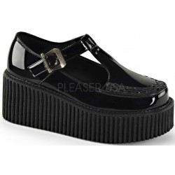 Platform T-Strap Black Creeper for Women Mild to Wild Shoes  Shoes for Women from Flats to Extreme High Heels & Platforms