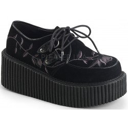 Embroidered Floral Black Faux Suede Womens Creeper Mild to Wild Womens Shoes  Shoes for Women from Flats to Extreme High Heels & Platforms