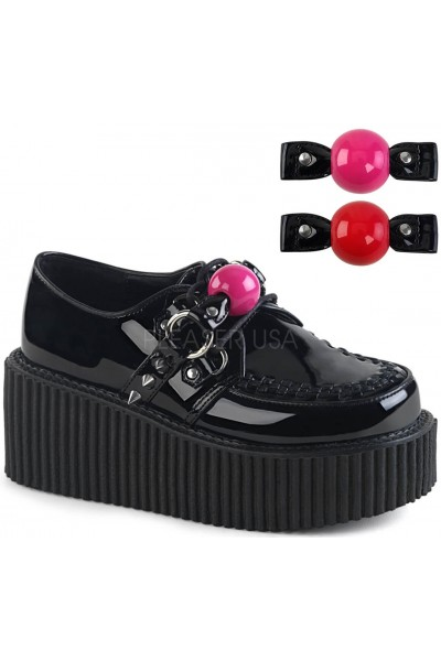Ball Gag Black Faux Leather Womens Creeper at Mild to Wild Womens Shoes,  Shoes for Women from Flats to Extreme High Heels & Platforms