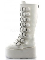 Damned White Gothic Knee Boots for Women at Mild to Wild Womens Shoes,  Shoes for Women from Flats to Extreme High Heels & Platforms