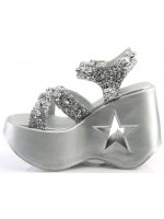 Dynamite Star Womens Platform Silver Sandal at Mild to Wild Womens Shoes,  Shoes for Women from Flats to Extreme High Heels & Platforms
