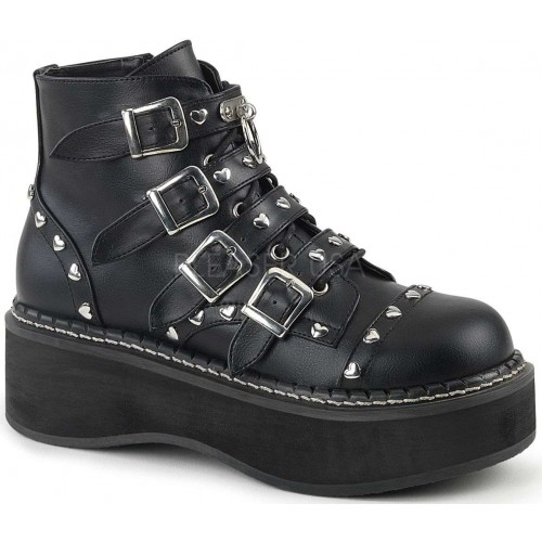 Emily Low Platform Heart Stud Ankle Boot at Mild to Wild Shoes,  Shoes for Women from Flats to Extreme High Heels & Platforms