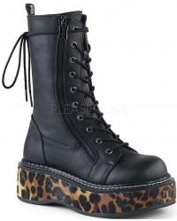 Emily Leopard Platform Mid-Calf Boot