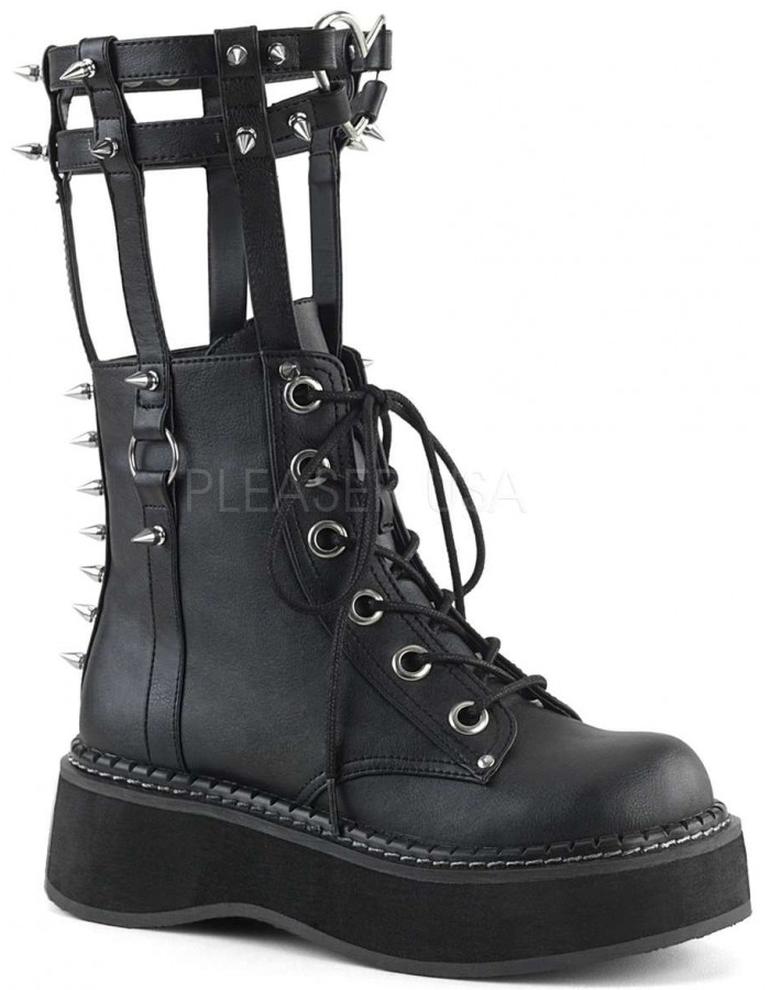 a17382e0af17 Emily Heart Cage Calf High Womens Boot at Mild to Wild Womens Shoes