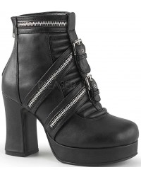 Zippered Gothic Platform Boots for Women