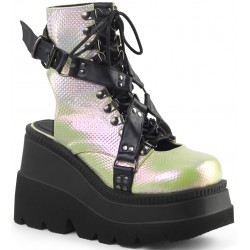 Open Back Green and Black Womens Platform Boots Mild to Wild Womens Shoes  Shoes for Women from Flats to Extreme High Heels & Platforms