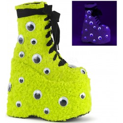 Slay Lime Green Googly Eye Platform Boots Mild to Wild Womens Shoes  Shoes for Women from Flats to Extreme High Heels & Platforms