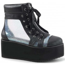 Grip 102 Platform Ankle Boot with Holographic Panels Mild to Wild Womens Shoes  Shoes for Women from Flats to Extreme High Heels & Platforms