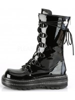 Lilith Metal Trimmed Mid-Calf Womens Black Patent Boot at Mild to Wild Womens Shoes,  Shoes for Women from Flats to Extreme High Heels & Platforms