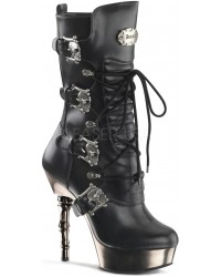 Spine Heeled Muerto Calf High Boot